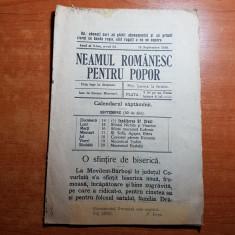 neamul romanesc pentru popor 14 septembrie 1914-art. scris de nicolae iorga
