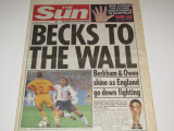 "Ziarul englez""THE SUN"" 23.06.1998 ROMANIA-ANGLIA (Campionatul Mondial Franta`98)"