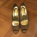 Pantofi dama, 39, Gri, Cu toc