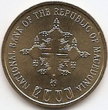 Macedonia 1 Denar 2000  - (Year error)  KM-27 UNC !!!