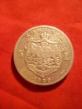 Moneda 5 lei 1880 Carol I argint ,semnatura pe contur, cal.f.buna