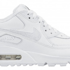 Pantofi sport dama Nike Air Max 90 Leather White 302519-113