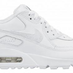 Pantofi sport dama Nike Air Max 90 Leather White 302519-113 - Adidasi dama