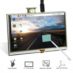 Monitor hdmi 5 inch lcd touch 800x480 statmon case - Monitor touchscreen