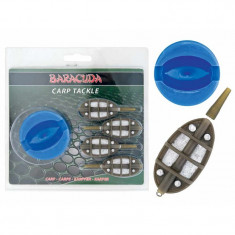 Set 4 Momitoare Method Feeder Baracuda Greutati 15 32 40 60 grame + Compresia - Plumbi Pescuit