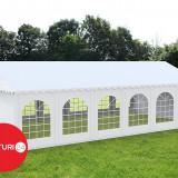 6x12 M CORT EVENIMENTE PROFESSIONAL XXL, PVC IGNIFUG ALB - Pavilion gradina