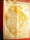 Harta pt. Concurs Orientare ,scara 1: 15000 Cupa Romaniei Ed.XV 1980 - Faget