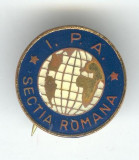 IPA - ASOCIATIA INTERNATIONALA A POLITISTILOR Sectia Romana, insigna