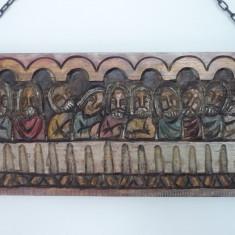 BASORELIEF CINA CEA DE TAINA SCULPTURA IN LEMN, Religie