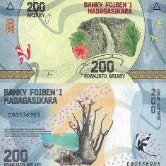 MADAGASCAR 200 ariary ND (2017) UNC!!! - bancnota africa
