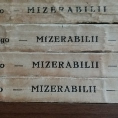 VICTOR HUGO – MIZERABILII - 4 VOLUME - Carte veche