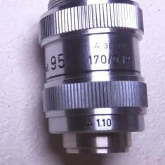 Obiectiv profesional Leitz Wetzlar Ulei 95x cu antisoc pt microscop zeiss IOR