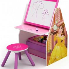 Set 2 in 1 organizator si birou cu tablita si scaun Disney Princess Activity Center - Set mobila copii
