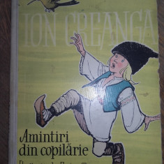 AMINTIRI DIN COPILARIE - ILUSTRATA SUPERB DE EUGEN TARU// 1959, FORMAT A4 - Carte de povesti