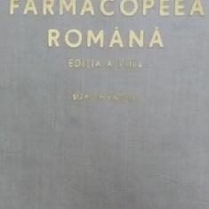 FARMACOPEEA ROMANA - EDITIA A VIII-A - SUPLIMENT III