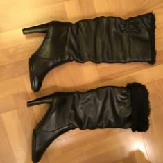 Cizme Zara dama - Cizma dama Zara, Culoare: Negru, Marime: 39