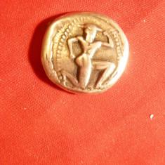 Moneda Stater -Copie metal comun -Creta, Knosos, avers minotaurul revers Labirint - Moneda Antica