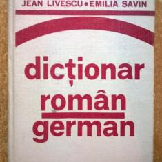 J. Livescu, E. Savin - Dictionar roman-german