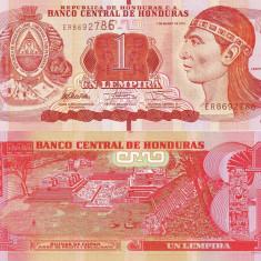 HONDURAS 1 lempira 2012 UNC!!! - bancnota america