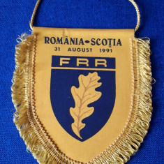 Fanion Rugby Romania - Scotia 1991 FRR
