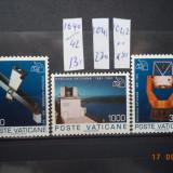 1991  Vatican Mi 1040 - 1042   Serie completa**, Nestampilat