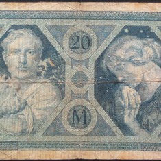 Bancnota 20 Marci - GERMANIA/ BERLIN, anul 1915   *cod 679