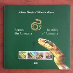 Romania - Album Filatelic 2011 - Nr.Lista 1887c - Reptile din Romania