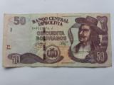 Bolivia 50 bolivianos 1986