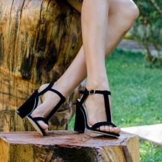 Sandale dama Silvi negre, Culoare: Negru, Marime: 37, 38, 39