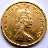 BRITISH HONG KONG , Elizabeth II 2nd portrait , 10 CENTS 1982