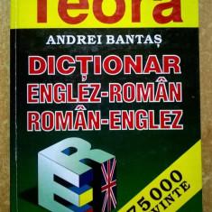 Andrei Bantas – Dictionar englez-roman, roman-englez {75.000 cuvinte}