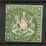 Wurttemberg 1858, Stampilat