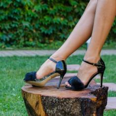 Sandale dama Becca negre, Culoare: Negru, Marime: 35, 36, 37, 38, 39