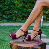 Sandale dama Becca bordo - Pantof dama
