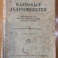 GAZDASAGI ALAPISMERETEK - 1941 - CARTE IN LIMBA MAGHIARA - Carte in maghiara