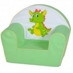 Fotoliu din burete copii 6 luni - 3 Ani Verde Dragon - Masuta/scaun copii