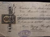 BRAILA - POLITA BANCARA - ORDIN DE PLATA - TIMBRU FISCAL RAR - 1898