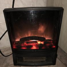 Semineu electric, cu efect de lemne arzand, cu jar si suflanta