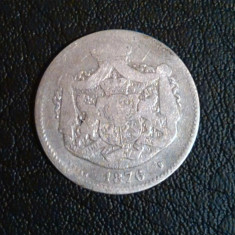 Romania - 2 Lei 1876 - Argint - Rar - Moneda Romania