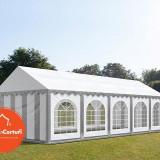 Cort Evenimente 4x10 m Premium 2 m Alb Gri - Decoratiuni nunta