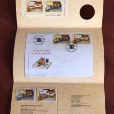 Romania - Album Filatelic 2005 - Europa Gastronomie include medalie Argint