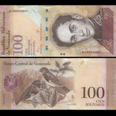 Venezuela 2015 - 100 bolivares UNC