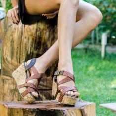 Sandale dama Vivy maro, Marime: 36, 37, 38, 39, 40