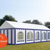 Cort Evenimente 4x10 m Premium 2 m Alb Albastru - Decoratiuni nunta