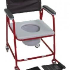 Fotoliu de WC cu roti - Scaun cu rotile