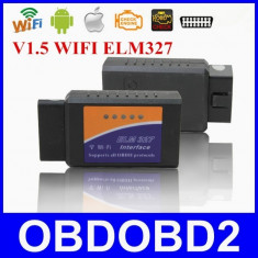 Interfata tester auto Diagnoza Elm327 Wi-Fi OBD2 v1.5, Android sau IOS OBD II - Tester diagnoza auto