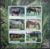KHAKASSIA (PL RUSIA) - RASE DE CAI, 2003, 6 V IN 1 M/SH, NEOBLIT. - PLR 53, Fauna