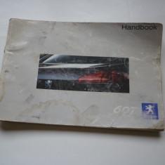 Manual carte carticica auto Handbook Peugeot 607 !, Carte tehnica