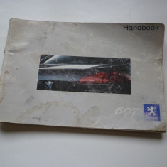 Manual carte carticica auto Handbook Peugeot 607 !