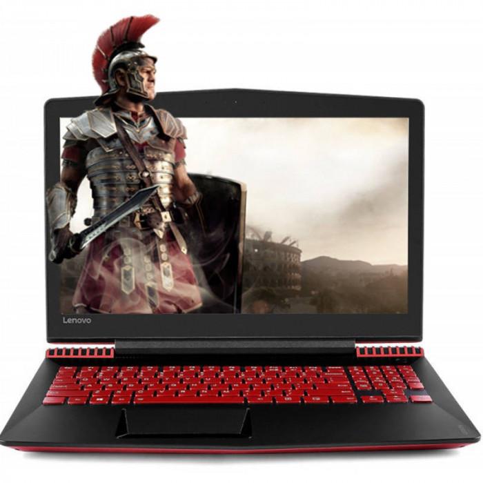Laptop Lenovo Legion Y520-15IKBN 15.6 inch FHD Intel Core i5-7300HQ 8GB DDR4 1TB HDD 256GB SSD nVidia GeForce GTX 1050 Ti 4GB Red foto mare
